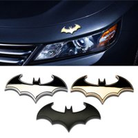 emblemas do batman venda por atacado-Elegante 3D Metal Personalidade Bat Auto Sinal Etiqueta Do Carro de Metal Emblema Batman Emblema Cauda Applique