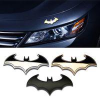 batman amblemi çıkartmaları toptan satış-Şık 3D Metal Kişilik Yarasa Oto Burcu Araba Sticker Metal Batman Rozet Amblem Kuyruk Aplike
