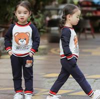 falda corta pantalones al por mayor-2019 Designer Tag nuevo estilo para niños bebés niños niñas Sudadera pantalones tops tops Falda corta Traje de dos piezas para niños