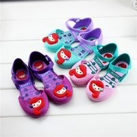 Wholesale girl princess sandals resale online - jelly shoes mermaid Korean version of the lovely princess shoes summer new girl sandals MMA2041