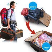 Wholesale vacuum bag transparent resale online - Vacuum Bag Storage Home Organizer Transparent Border Foldable Clothes Organizer Seal Compressed Travel Saving Space Bags