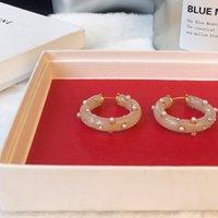 aros de jade venda por atacado-Hoop Ágata Brinco Studs Mulheres Designer de Luxo Retro Rosa Jade Brinco de Alta Qualidade Presente do Dia Dos Namorados Jóias Quentes