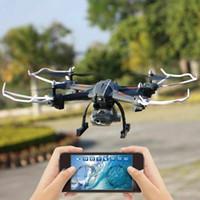 avião preto venda por atacado-Global Drone S5 1080 P WiFi FPV 5.0 Câmera HD Quadcopter Dron Avião Preto Quente