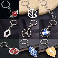 Wholesale car ferrari online - 3D Metal Auto Car Logo Keychain Key Holder Creative Mini Key Ring Auto Car Key Chain Keyring Keyfob For Mercedes Benz BMW Ferrari Volkswagen