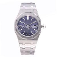 aaa réplicas venda por atacado-Relógio de luxo 42mm completa pulseira de aço inoxidável relógio de ouro automático luminosa qualidade superior relógio de pulso de safira orologio di lusso 5ATM à prova d 'água