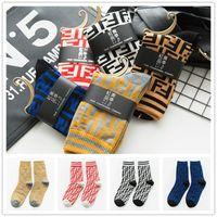 ingrosso lunghe calze invernali-Donne Designer Crew calze lunghe Marca FF Calze Fends Autunno Inverno Skateboard Sport Socks Via MidTube calzino Ladys Calze C72302