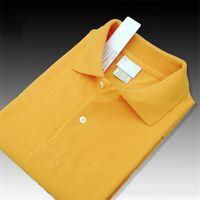 marka polo kadın toptan satış-Marka Tasarımcısı Yaz Polo Gömlek Nakış Erkek Polo T Shirt Erkek Kadın için Moda Stil Gömlek Yüksek Sokak Üst Tee