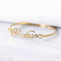 Wholesale id bracelet resale online - Custom Name Bracelet Bangle BFF Handmade Custom Name ID Bracelet Bijoux Femme Personalized Calligraphy Bracelets