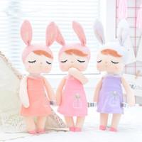 belle poupée chaude achat en gros de-Bébé Angela Metoo Peluche Poupée Peluche Lapin Belle endormie jouet cadeau pour enfants Kawaii Cartoon Hot Rabbit jouet LJJJ2