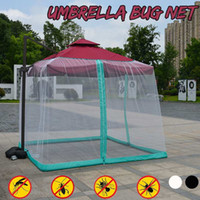 Wholesale new home bedding resale online - Outdoor Mesh Cover Anti mosquito New Umbrella Mosquito Net For Home Bed Outdoor Camping Double sided zipper Black White Y200417