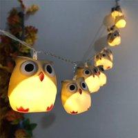 ingrosso luci stringa gufo-Luce Decor nuovo partito di Halloween Gufo 1PC 1.65m luci del giardino della decorazione 10 Owl luci stringa Halloween Party String 0802 # 30