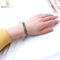 Wholesale bracelet beading resale online - Ethnic Rice Beads Acrylic Woven Beads Bracelet for Women Boho Hollow Small Colorful Beading Bracelet Fashion Jewelry Gif