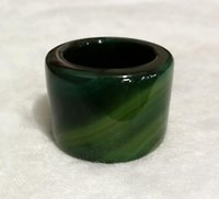 Wholesale manufacturer silver china for sale - Group buy Manufacturers natural jade A goods green agate wrench widened increase agate ring men s ring