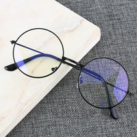 Wholesale frames games resale online - Vintage Round Metal Frame Blue Light Blocking Personality College Style Clear Lens Eye Glasses Eye Protection Mobile Phone Game
