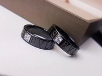 Wholesale black diamond ring china for sale - Group buy Hot sale black band Ring with diamond for Women and man wedding jewelry brand name jewelry drop shipping PS5589