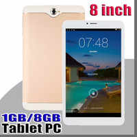 Wholesale mtk6582 phablet resale online - 8 inch Dual SIM G Tablet PC IPS Screen MTK6582 Quad Core GB GB Android Phablet
