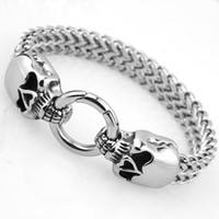 Wholesale bracelet rolo resale online - Men s Lion Skull Wolf Head Bracelet On Double Figaro Rolo Chain for Men Silver Gold Stainless Steel Jewelry with inch