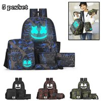 Wholesale 11 laptops for sale - Group buy School Bag DJ Marshmello designer backpack set piece Student School Bag Men Women Travel Sport Shoulder Bags portable laptop bag Rucksack