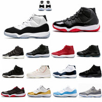 Hot selling With Box 11 Space Jam Bred+ Number 45 new Concord Basketball Shoes Men Women shoes 11s red Navy Gamma Blue 72-10 Sneakers