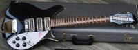 Wholesale ric guitars resale online - Rare Short Scale RIC John Lennon Jetglo Black Semi Hollow Electric Guitar Gloss Fretboard Accent Vibrato Double Tier White Pick guard