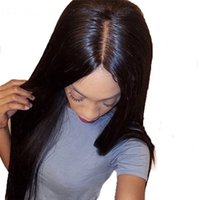 Wholesale silk top human hair lace online - 4 Straight Silk Base Lace Front Human Hair Wigs Brazilian Remy Hair Silk Top Lace Front Wigs With Baby Hair