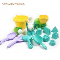 Wholesale tpe toys resale online - Beach Toys For Kids Summer Children Sand Water Beach Play Toys TPE Beach Castle Bucket Spade Shovel Rake Water Tool SL66673