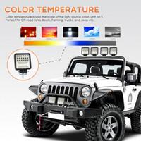 2x 7inch Osram LED Light Bar Flood Spot Driving Fog Lamps Offroad 4WD 6000K 3Row