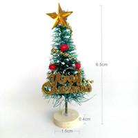 luces de copo de nieve cambiantes de color al por mayor-Árbol de navidad arbol de navidad Mini árbol de navidad de año nuevo Árbol de pino pequeño navidad Escritorio Mini decoración navideña