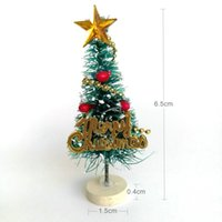 pequenas decorações de árvore de natal venda por atacado-Árvore de natal arbol de navidad Mini Árvore de Natal de Ano Novo Pequeno Pinheiro navidad Desktop Mini Decoração de Natal