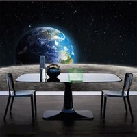 moon wallpaper 2021 - Modern photo wallpaper Star Earth 3D universe Moon made from large size living room restaurant TV backdrop mural modern painting