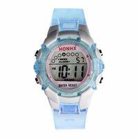 девушки часы дата оптовых-Часы для детей Дети часы водонепроницаемый дети девушки цифровой светодиодный кварцевый будильник дата Спорт наручные часы для девочек дети