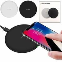 iphone tragbare ladestation großhandel-Für iphone x 10 8/8 plus tragbare qi drahtlose schnellladegerät lade pad mat dock