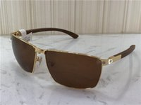Wholesale wood sunglasses resale online - new fashion designer sunglasses T8201017 metal frame wood legs simple summer popular selling style uv400 outdoor protection eyewear