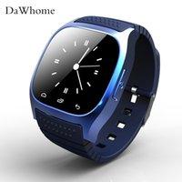luxus-schrittzähler großhandel-Smart watch m26 sport bluetooth smart watch luxus armbanduhr mit zifferblatt sms erinnern schrittzähler für samsung lg htc ios android