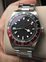 сапфир мужские часы оптовых-Роскошные часы ZF Factory Pepsi GMT Функция 41мм Черный циферблат из сапфирового стекла Мужские автоматические часы
