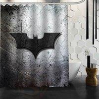 ducha estilo clásico al por mayor-Personalizado 4 estilo clásico de Batman Logotipo de baño cortina de ducha impermeable durable clásico de poliéster Tela baño decorativo Mat Y200108