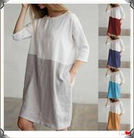 lange lässige hemden für frauen großhandel-Frauen Baumwolle Kleid weibliche Tageskleider Sexy Frauen Sommer langes Kleid Mädchen Street Style Kleider billig lange T-Shirts
