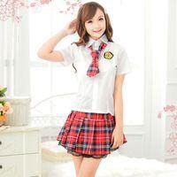 ingrosso scuola sexy uniforme giapponese-Ragazza scuola giapponese Cosplay Donne Sexy Hot Naughty School Girls Cosplay Uniform Costume per adulti Erotic Sleepwear Lingerie