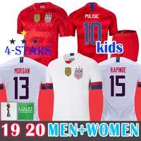 xl 18 großhandel-4 Star 2019 Soccer Jersey USA Fußballtrikot WM Frauen Fußball Trikots RAPINOE PULISIC DEMPSEY McKennie MORGAN Fußball LLOYD USA MÄNNER Kinder Shirts