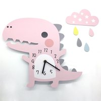 Wholesale dinosaurs room decor for sale - Group buy 3D Animal Wall Clock Dinosaur Pattern Design Decoration for Home Bedroom Vintage Home Wall Decor Wall Clock for Kids Room Y200109