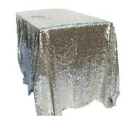 tabela de lantejoulas de ouro venda por atacado-120 * 180 cm Toalha De Mesa Do Hotel praça de casamento toalha de mesa de prata de Ouro champanhe toalha de mesa Lantejoulas PE layout do partido adereços de casamento de fibra de Poliéster