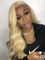 Wholesale 12 inches blonde lace wig for sale - Group buy 613 Blonde Lace Front Wigs Human Hair Pre Plucked Frontal Body Wave Wig for Women inch with density