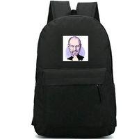 mochila de manzana al por mayor-Mochila Steve Jobs Mochila Apple Mochila con buena foto Mochila duradera Mochila escolar informal Mochila al aire libre