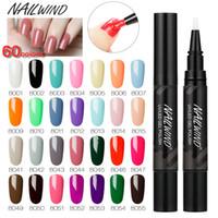 Wholesale manicure nail art pen resale online - NAILWIND Gel Nail Polish Pen ML color Nail Art Manicure Semi Permanent UV Base top Coat Primer Gel Polish Pen Varnish
