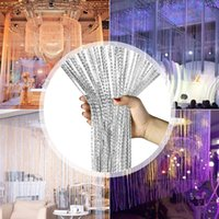 Wholesale living lines for sale - Group buy 100x200cm String Curtain Valance Shiny Tassel Line Curtains Window Door Divider Drape Living Room Decor Home Decoration