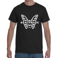 nuevos cuchillos de mesa al por mayor-Logotipo de Benchmade Griptilian cuchillo plegable de los hombres camiseta negra S-2XL Tamaño Discout Caliente Nueva camiseta Hoodie Hip Hop camiseta