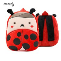 Wholesale cartoon plush backpack for sale - Group buy 2 Years Old Kindergarten Kids Backpacks Baby Girls Boys Cute Schoolbag Plush Backpack Children Cartoon School Bags