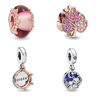 Wholesale pandora pink flower charms for sale - Group buy 2019 Autumn rose gold plated loose beads sterling silver charms Fit for Pandora Original bracelets necklace new diy women jewelry