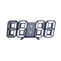 Wholesale bulb clock for sale - Group buy 3D Large LED Digital Wall Clock Date Time Celsius Nightlight Display Table Desktop Clocks Alarm Clock For Home Living Room