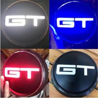 coche ligero mejor azul al por mayor-Mejor Car Styling 3 Luz LED Color Rojo Azul Negro Mustang GT tronco del cuerpo posterior de la divisa del emblema de la etiqueta engomada